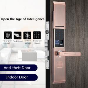 Cheap Zinc Alloy Semiconductor Fingerprint Door Lock Sliding Cover Type for sale