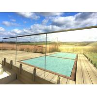 Cheap Frameless Tempered Glass Railing / Balustrade for Terrace and Pool for sale