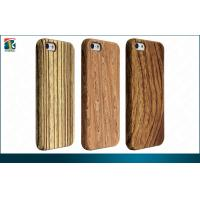Cheap Custom Wooden Iphone 5 Protective Cases Anti-static Embossed Logo for sale