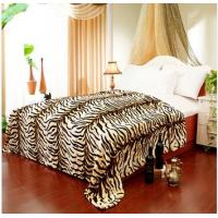 Cheap Breathable Queen Size Tiger Print Blanket Lovely Custom For Adult / Children wholesale