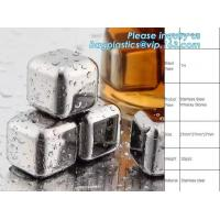 Cheap stainless steel whisky stones free sample reusable metal ice cubes, Stainless Steel Whiskey Chilling Rocks Ice Cube Whis for sale