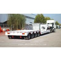 Cheap Best price 4 axle lowboy trailer for loading weight 100tons ,lowbed trailer with detachable gooseneck for sale