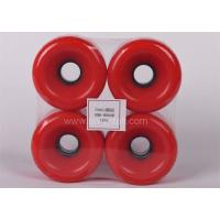 Cheap pu wheels for skate board 75*51 round PU Wheels red pu wheels for skateboard supplier for sale