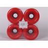 Buy cheap pu wheels for skate board 75*51 round PU Wheels red pu wheels for skateboard from wholesalers