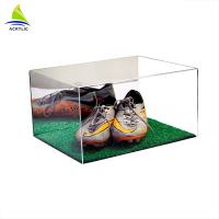Cheap Custom Made Clear Acrylic Shoe Storage Box With Cover Eco - Friendly for sale
