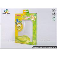 Cheap Green / Yellow Foldable Gift Boxes Eco Friendly PVC Window For Children Bowl for sale