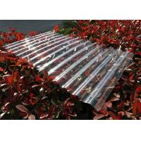 Cheap Transparent Corrugated Polycarbonate Sheets For Roofing UV Resistant for sale