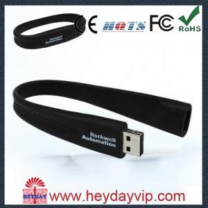 China Decorative colorful Silicone Wristband buy usb memory stick 4GB / 8GB / 16GB on sale