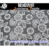Cheap 2015 trend 100% polyester wave pattern chemical crochet lace fabric for women dresses for sale