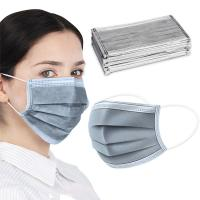 Cheap Light Weight Activated Carbon Dust Mask Grey Color 25 + 35 + 25 + 25 GSM for sale