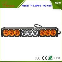 """Cheap 90w 16.6"""" 9-30V combo single stack offroad led light bar with amber and transparent cover for sale"""