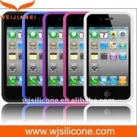 Cheap Protective Silicone Cell Phone Case for Iphone 4/4S for sale