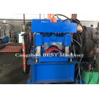 China Automatic Roof Ridge Cap Roll Forming Machine , Roll Forming Equipment PLC Control on sale
