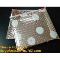 China Factory Shiny Rose Gold Silver Cosmetic Zipper Bubble Bag Self Adhesive Plastic Pe Material Mailer Zip Lock Padded Bag, on sale