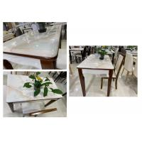 China Modern Style 5 Piece Dining Table Set With Faux Marble Countertops on sale