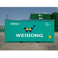 Cheap 20 Foot High Cube Open Top Container , Custom Color Steel Shipping Containers for sale