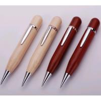 Cheap eco wood pen usb flash drive with free logo engraved for sale