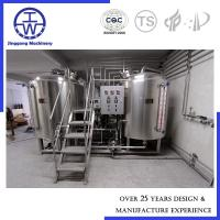Cheap Semi - Auto Industrial Beer Brewing Equipment 500L 1000L 1500L 304 Stainless Steel for sale