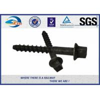 Cheap High Tensile Railway Sleeper Screws HDG Plain Oiled Surface Material Q235 Grade 4.6 for sale