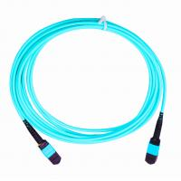 Cheap 3.0mm Fiber Optic Cable Accessories , 5M Length MPO MTP Optical Patch Cord for sale