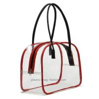 Cheap Deluxe High Transparency PVC Tote Bag Red PVC Tube Trim For Multi Purposes for sale