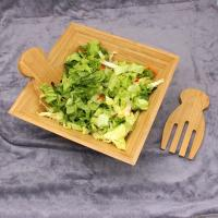 Cheap Eco Friendly Totally Bamboo Salad Bowl Set With Matching Salad Servers for sale
