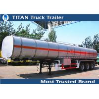 Cheap TITAN Custom carbon steel fuel Tanker Trailer with 4mm 5mm 6mm tank thickness for sale