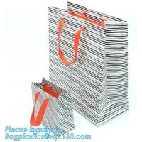 China Shopping Bags Small Medium & Large, Gift Bag With Handles, Gusset With Cardboard For Retail Merchandising on sale