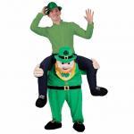 Cheap Funy Buddy St Patricks Mascot Novelty Oktoberfest New Unisex Ride on Carry Me Costume Animal Funny Fancy Dress Pants for sale
