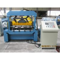 Automatic Hydraulic Cutting Metal Deck Roll Forming Machine 82mm dia Shaft