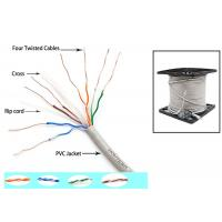 China Telecommunication Cat6 UTP Cable 350MZ Ethernet 0.56mm Twisted pair with Drain Wire on sale