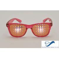 Buy cheap Party Plastic Frame 3D Diffraction Glasses , Durable Rainbow Prism Glasses from Wholesalers