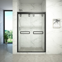 Buy cheap Toughened Glass Double Sliding Door For Shower Room from wholesalers