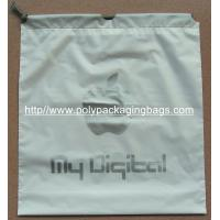 Cheap EVA Transparent White LDPE Frosted Small Plastic Drawstring Bags for sale