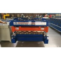 Cheap 4 Kw Hydraulic Cutter Glazed Tile Roll Forming Machine 1220mm Coil Width for sale