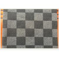 Cheap Coat Smooth Black And White Buffalo Check Fabric 45% Wool 750g Per Meter for sale