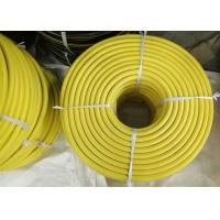Cheap Yellow EPDM 3/4 Jack Hammer Rubber Air Hose , Flexible Rubber Tubing With Claw Fittings for sale