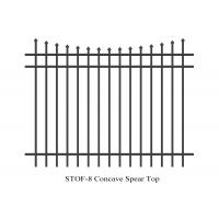 Cheap Stain black powder coated Crimped spear ,Press Spear Hercules Fence Panels 2.1mx2.4m for sale