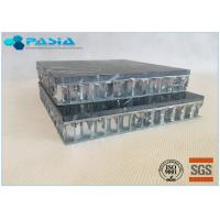 Cheap Fuding Black Basalt Type Honeycomb Stone Panels With Edge Open Flamed Surface for sale