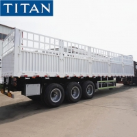 Cheap China fence semi trailer 60T grid position semi trailer for sale for sale
