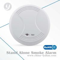 Cheap 9V Stand Alone Battery Operated Photoelectric Smoke Detector Flash Alarm for sale