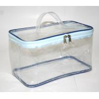 China Clear Transparent Makeup Bag , Waterproof Cosmetic Travel Bag With Handle on sale