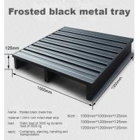 Cheap Durable Stackable Metal Pallet Box Powder Coating For Industrial Warehouse for sale