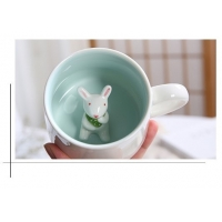 Cheap Single Layer White 3D Promotional Ceramic Coffee Mugs for sale