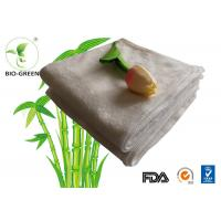 Cheap Customized Softness Bamboo Dry Wipes , Square Bamboo Antibacterial Baby Wipes for sale