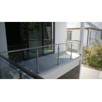 Cheap Glass Railing/ Glass Balustrade with Stainless Steel Post for Balcony Design for sale