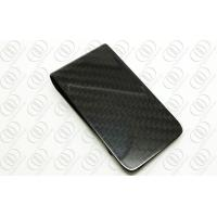 China AAA Full Black Carbon Fiber Money Clips With Shiny Glossy Finish on sale