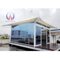 Cheap Prefab Glass Sunshine Hut For Luxury Tent Hotel , Permanent Tent House Glamping And RVs wholesale
