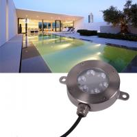 Cheap Outdoor 12V LED Underwater Fixture Stainless RGB Color Changing LED Pool Light for sale