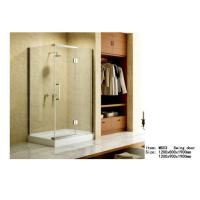 Cheap Square Acrylic Tray Corner Shower Enclosures , Three Panels Glass Shower Enclosure for sale